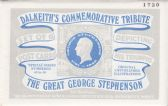 GEORGE STEPHENSON SET OF SIX POSTCARDS BY DALKEITH
